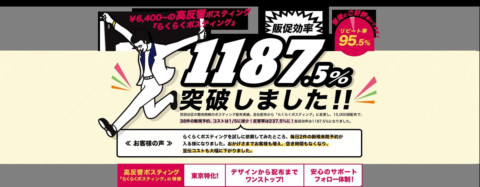 ¥6,400~の高反響ポスティング