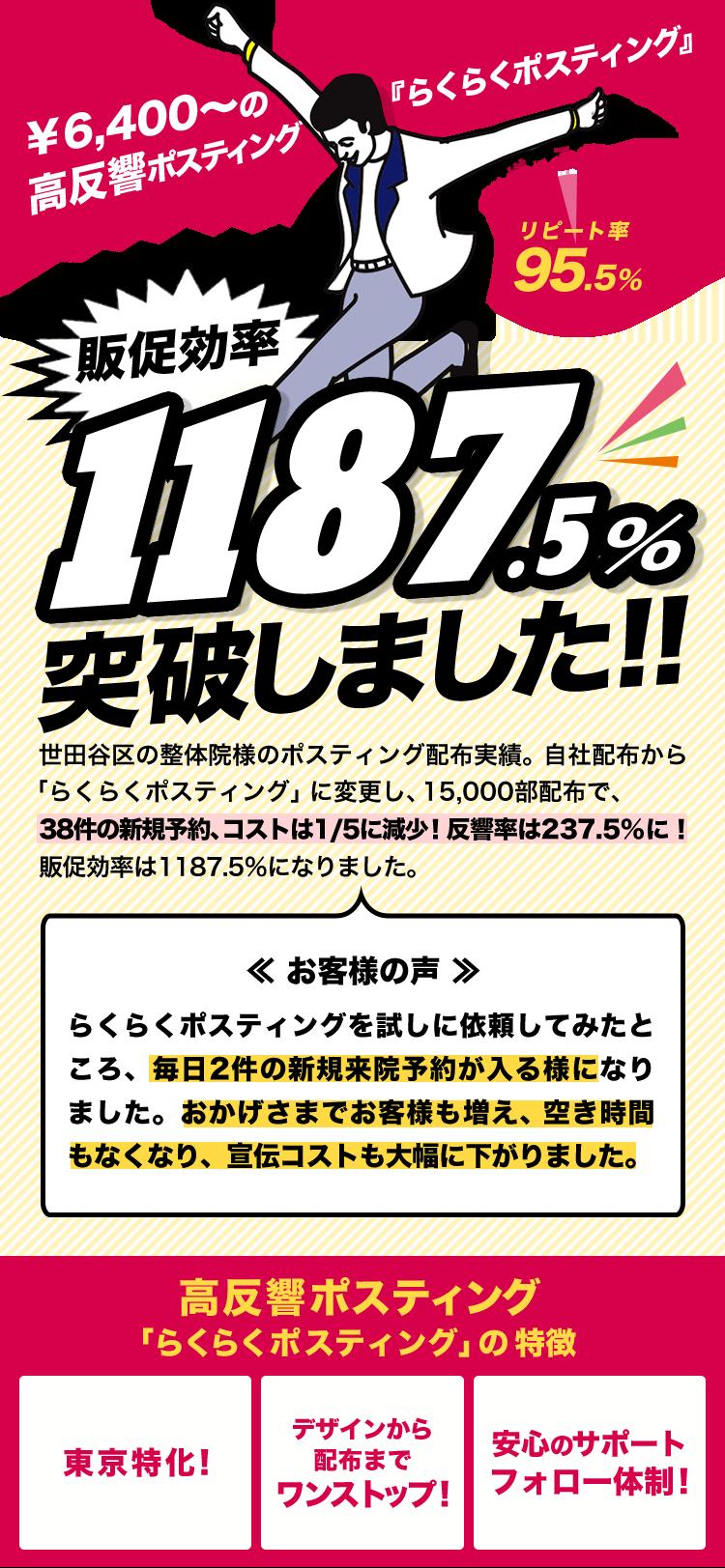 ¥6,400~の高反響ポスティングsp